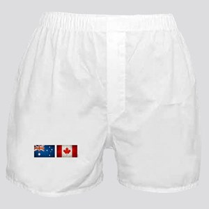 australia canada flags Boxer Shorts